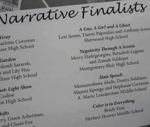 P4L stdents are Narrative Finalists in Youth Media Fest